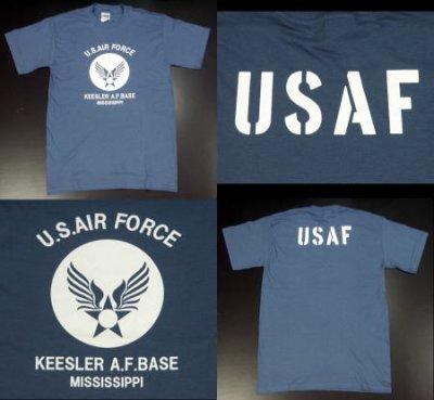 画像2: Tシャツ ロゴT US airforce メンズ ミリタリー USAF エアフォース MAVERICKS ブランド / 青 ブルー