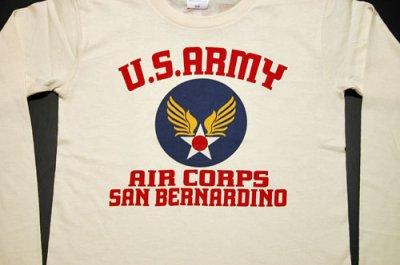 画像2: レディース・USAAC・アメリカ陸軍航空隊1940モデル長袖Tシャツ・生成り