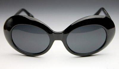 画像2: レトロなオーバルデカ目系!ブラック/カートコバーン系