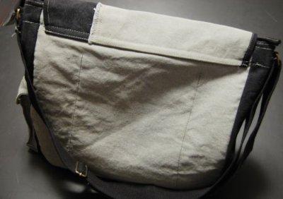画像2: ミリタリー バッグ メンズ ショルダー ROTHCO ブランド ヴィンテージ2トーン キャンバス地 新品/ブラック グレー