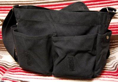 画像2: 大容量 メンズ ショルダーバッグ ROTHCO ロスコ 社製 メッセンジャーバッグ /ブラック 黒