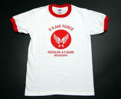 画像2: USAFエアフォース・「THE MAVERICKS」トリムTシャツ・白×赤