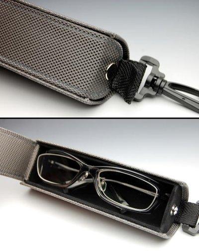 画像1: かばんやベルトループに!COOLなガンメタ眼鏡ケース