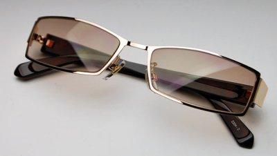 画像2: サングラス メンズ メタル 高品質 ブラウングラデーション 新品/哀川翔 Gackt タイプ