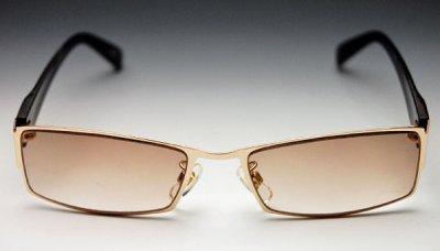 画像1: サングラス メンズ メタル 高品質 ブラウングラデーション 新品/哀川翔 Gackt タイプ