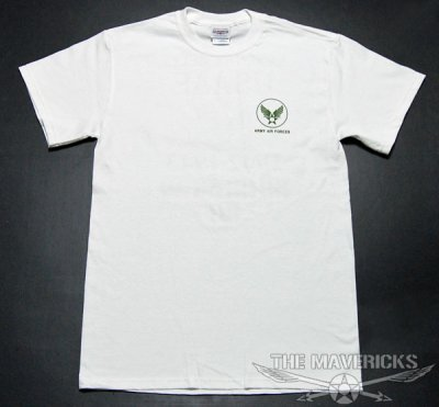 画像1: Tシャツ ミリタリー 半袖  爆弾エアフォース メンフィスベル ロゴT / ホワイト 白