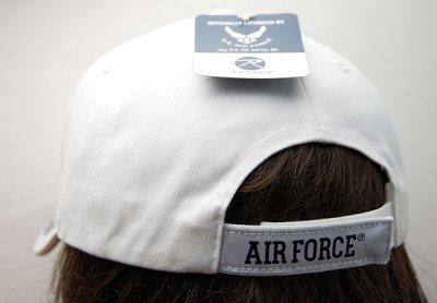 画像2: 帽子 メンズ キャップ ROTHCO ブランド 米空軍オフィシャル ロスコ エアフォース /ホワイト 白