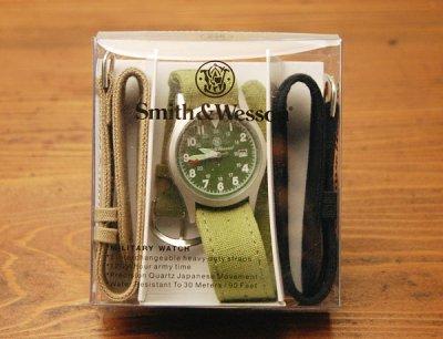 画像3: 腕時計 メンズ Smith & Wesson社 ブランド ミリタリーウォッチ ベルト3本セット 新品/ブラック
