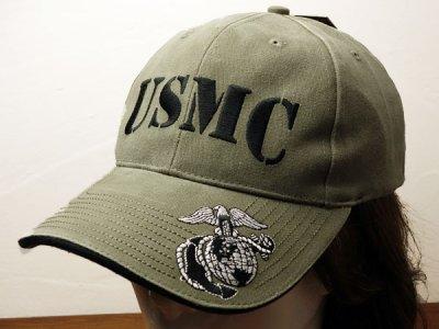 画像3: 帽子 メンズ ミリタリー キャップ ROTHCO ロスコ ブランド US MARINE オフィシャル USMC ロゴ /オリーブ