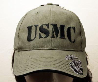 画像1: 帽子 メンズ ミリタリー キャップ ROTHCO ロスコ ブランド US MARINE オフィシャル USMC ロゴ /オリーブ