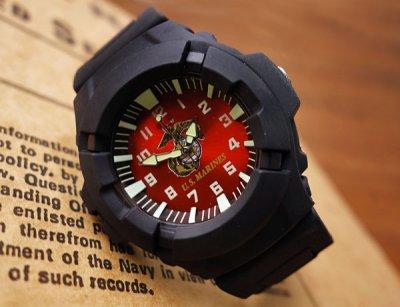 画像3: 腕時計 メンズ ミリタリー ウォッチ U.S.MARINE 公認モデル /AQUAFORCE WATCH ROTHCO 4377 赤