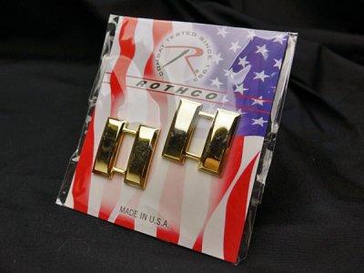 画像2: メタル 肩章 アメリカ製 米軍大尉 ROTHCO ロスコ 社 ピンバッジ ゴールド 新品