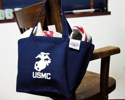 画像3: USMC(USマリン)・キャンバス地ランチバッグ・ネイビー