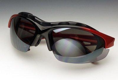 画像3: バイカーズシェイド パット外し 可能 バイク スポーツサングラス 新品 / 赤 レッド