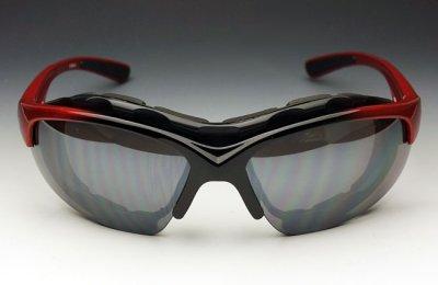 画像2: バイカーズシェイド パット外し 可能 バイク スポーツサングラス 新品 / 赤 レッド
