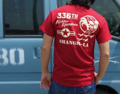 画像3: 第8空軍 シャングリラ ミリタリー メンズ Tシャツ 半袖 ロゴT / レッド 赤