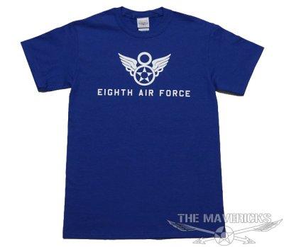 画像1: 第8空軍エアフォース・「シャングリラ」モデル・ミリタリーTシャツ・ブルー