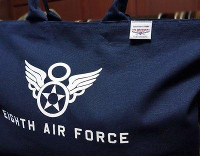画像1: 第8空軍エアフォース・キャンバスジップトートバッグ