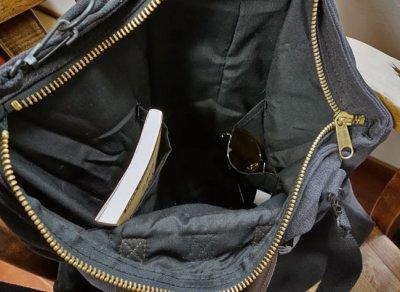 画像2: ヘルメットバッグ ミリタリー ショルダー US AIRFORCE キャンバス地 ROTHCO ロスコ 新品/ ブラック 黒