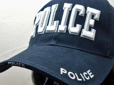 画像1: ROTHCO社製・「POLICE」ロゴ・ベースボールキャップ紺