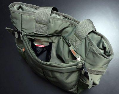 画像1: トートバッグ メンズ 大容量 大きめ ミリタリー ナイロン MA-1/ オリーブドラブ