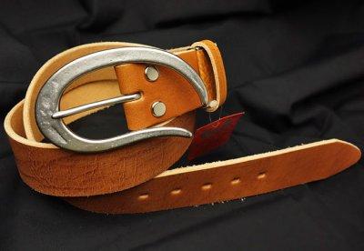 画像1: ベルト メンズ 日本製 100% ベジタブルタンニン 極厚 本革 おしゃれ ベルト / キャメル