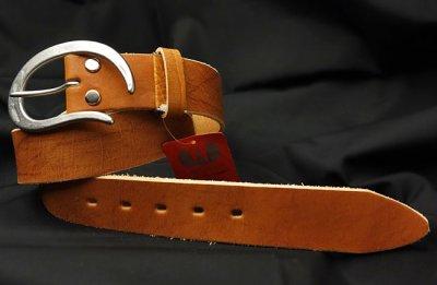 画像2: ベルト メンズ 日本製 100% ベジタブルタンニン 極厚 本革 おしゃれ ベルト / キャメル