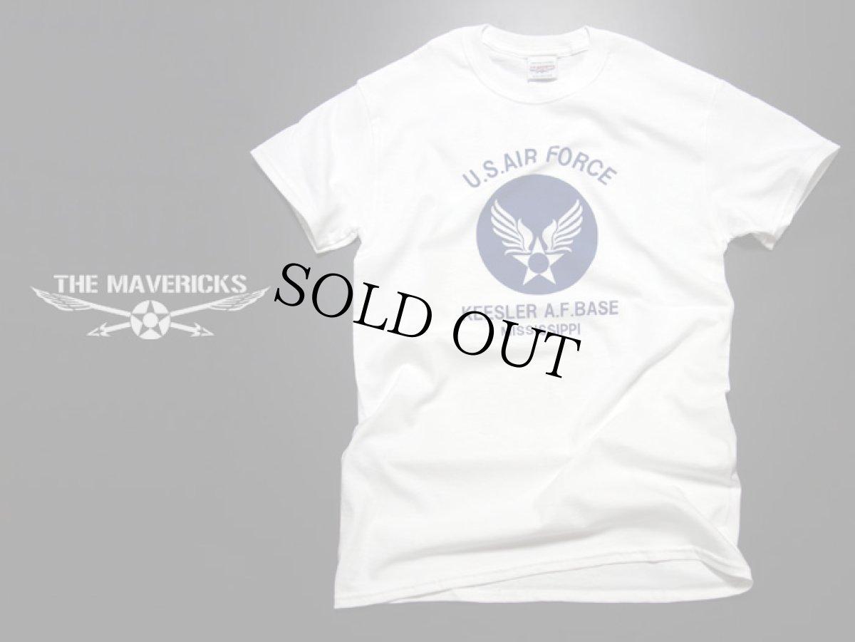 画像1: アウトレット!USAFエアフォース・「THE MAVERICKS」ミリタリーTシャツ・白XS (1)