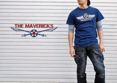 画像3: リトルジョー爆撃機モデル「THE MAVERICKS」ミリタリーTシャツ・紺