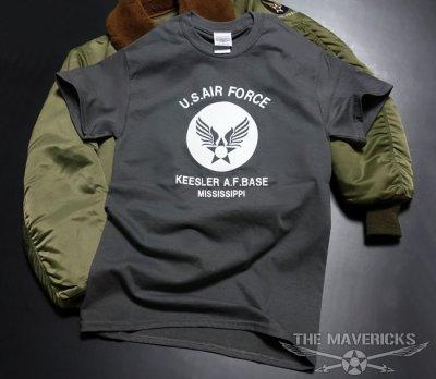 画像2: USAFエアフォース・「THE MAVERICKS」ミリタリーTシャツ・グレー