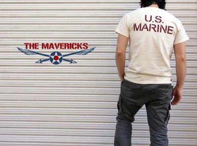 画像3: Tシャツ ミリタリー USマリン U.S.MARINE 米海兵隊 MAVERICKS ブランド / 生成り