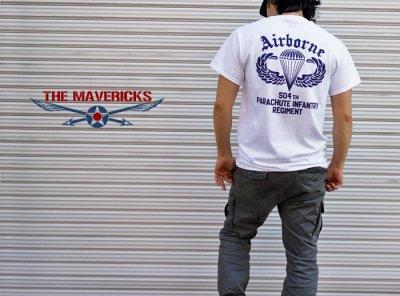 画像3: ミリタリーTシャツ 半袖 AIRBORNE エアボーン パラシュート部隊 / 白 ホワイト