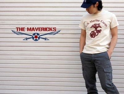 画像2: Tシャツ ミリタリー USマリン U.S.MARINE 米海兵隊 MAVERICKS ブランド / 生成り