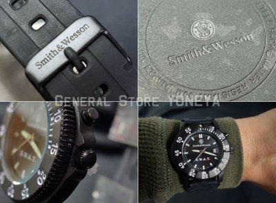 画像3: SWAT ミリタリーウォッチ 腕時計 メンズ Smith & Wesson 社 ブランド 新品/ブラック