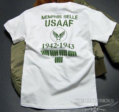 画像3: Tシャツ ミリタリー 半袖  爆弾エアフォース メンフィスベル ロゴT / ホワイト 白