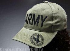画像1: 帽子 メンズ ミリタリー キャップ ARMY ロゴ ROTHCO ブランド 米陸軍 ロスコ/オリーブ (1)