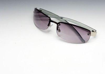 画像3: サングラス メンズ 当店ロングセラー 大人気の 2ポイント メタル サングラス / スモーク グラデーション