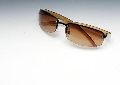 画像3: サングラス メンズ 当店ロングセラー 大人気の 2ポイント メタル サングラス / ブラウン グラデーション
