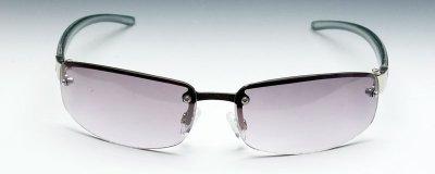 画像2: サングラス メンズ 当店ロングセラー 大人気の 2ポイント メタル サングラス / スモーク グラデーション