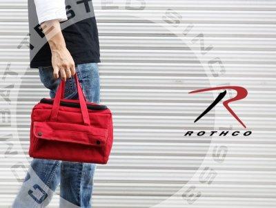 画像3: メカニック ツール バッグ 大 メンズ ロゴ 工具バッグ 工具箱 ROTHCO/ロスコ /赤 レッド