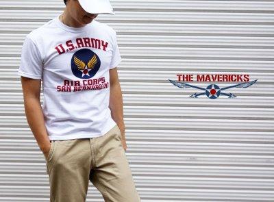 画像3: アウトレット品!USAAC・アメリカ陸軍航空隊1940モデルミリタリーTシャツ・白/S