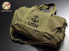 画像1: ボストンバッグ メンズ 2WAY ショルダー ROTHCO ロスコ USN アンカー 錨 / オリーブ (1)