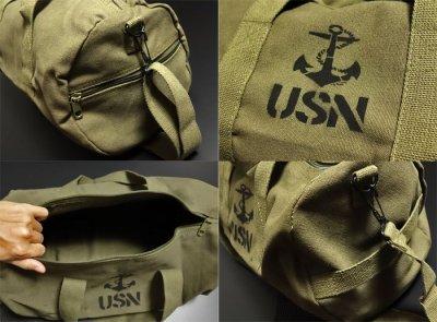 画像2: ボストンバッグ メンズ 2WAY ショルダー ROTHCO ロスコ USN アンカー 錨 / オリーブ