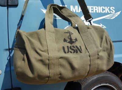 画像3: ボストンバッグ メンズ 2WAY ショルダー ROTHCO ロスコ USN アンカー 錨 / オリーブ