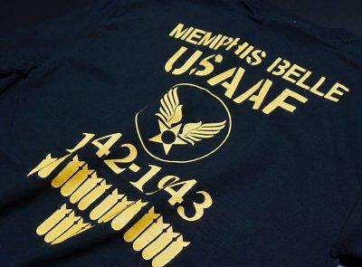 画像2: ミリタリー 長袖 ロング Tシャツ メンズ MAVEVICKS ブランド 6.1oz USコットン 爆弾エアフォース ブラック 黒