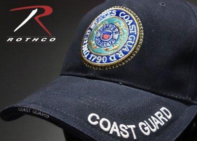 画像1: ミリタリー ベースボールキャップ メンズ ROTHCO社 ブランド /U.S.CoastGuard アメリカ沿岸警備隊/ネイビー 紺