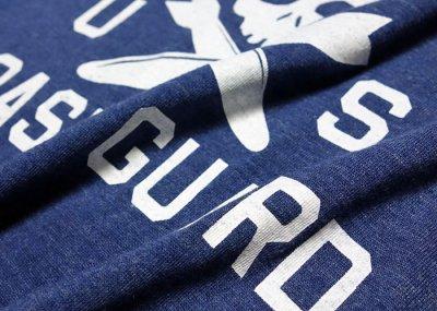 画像2: U.S.CoastGuard(アメリカ沿岸警備隊)スカル・8分丈Tシャツ・ヘザーネイビー