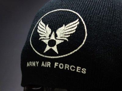 画像1: ニットキャップ ミリタリー ニット帽 エアフォース 新品 ロスコ ROTHCO ブランド / ブラック 黒