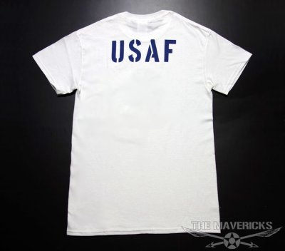 画像2: アウトレット!USAFエアフォース・「THE MAVERICKS」ミリタリーTシャツ・白XS