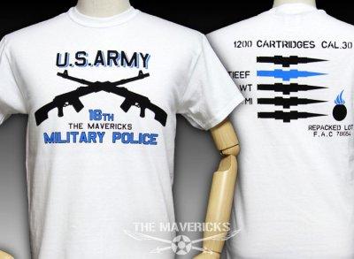 画像1: ARMY「ミリタリーポリス」2丁マシンガン・Tシャツ・白